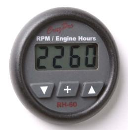 CruzPro digital 55 mm RPM meter, engine hour meter and