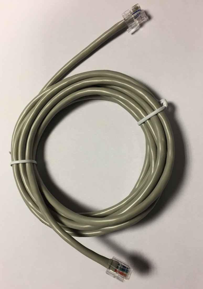RJ12  Patch Cable GREY 3m