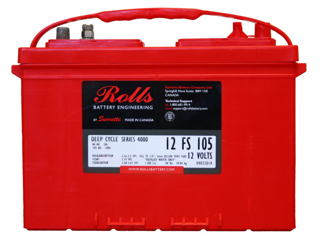 Battery - Rolls - 12V 105AH (20hr)