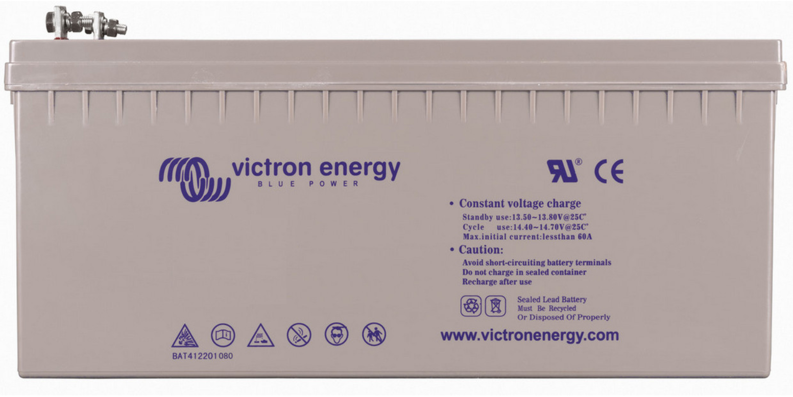 Victron 12V GEL deep cycle battery - 245 ah @ C10, 265 ah @ C20