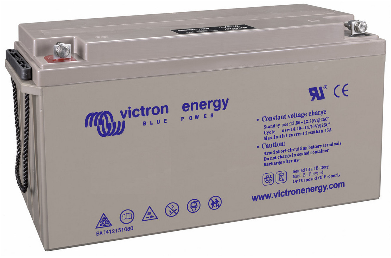 Victron 12V GEL deep cycle battery - 150 ah @ C10, 165 ah @ C20