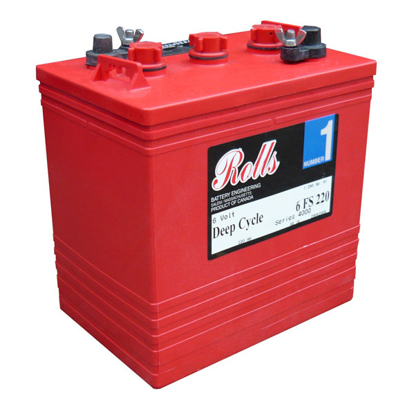 Rolls Battery - 6FS220 - Wet Acid - 6v 220Ah