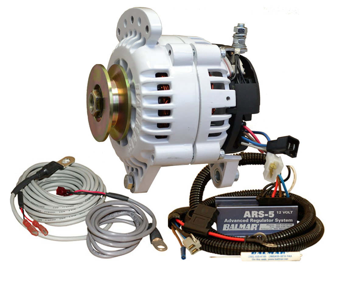 12V 100A 60 Series Single Vee Saddle Mount Alternator KIT