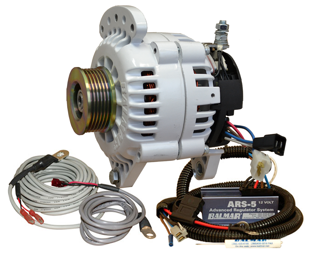 12V 120A 60 Series K6 Serpentine Saddle Mount Alternator KIT