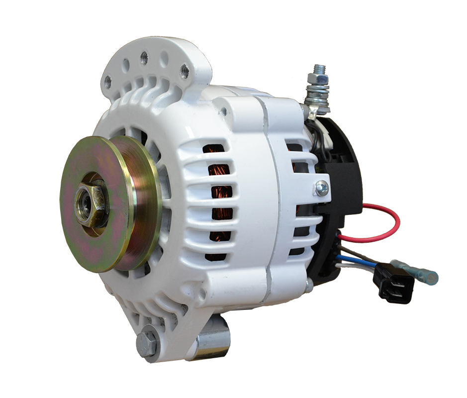 12V 100A 621 Series Single Vee Single Foot Spindle Mount Alternator