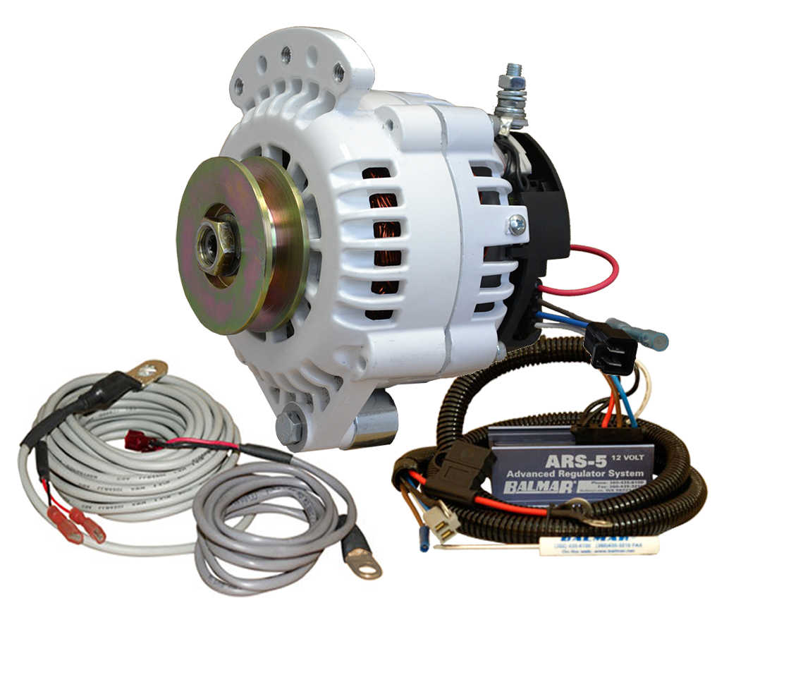 12V 100A 621 Series Single Vee Single Foot Spindle Mount Alternator KIT