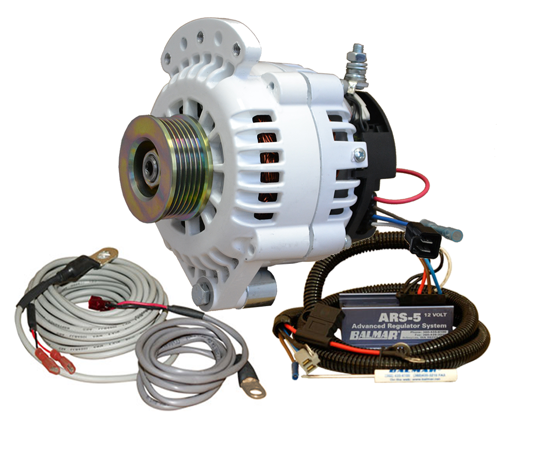 12V 120A 621 Series K6 Serpentine Single Foot Spindle Mount Alternator KIT