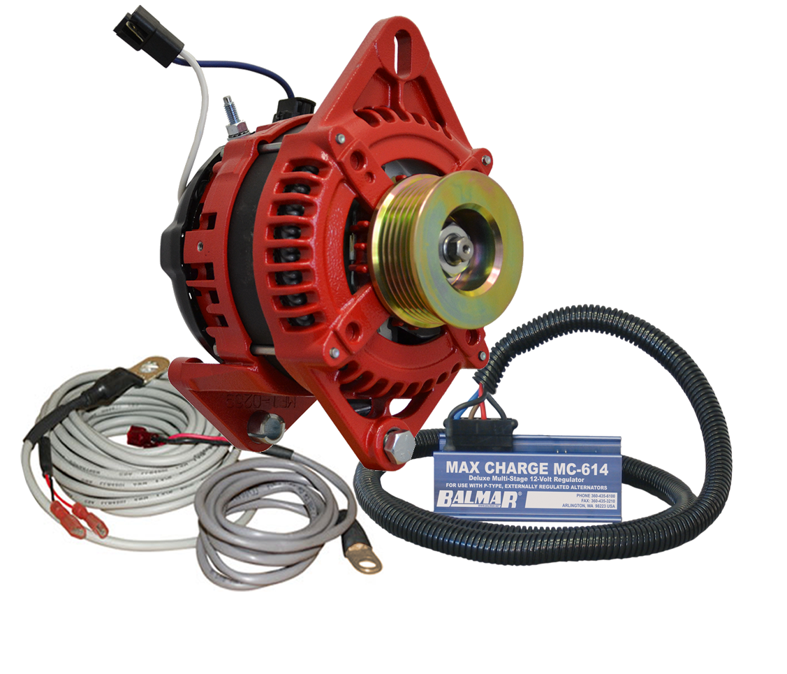 12V 165A AT Series Dual Foot Saddle Mount Alternator KIT