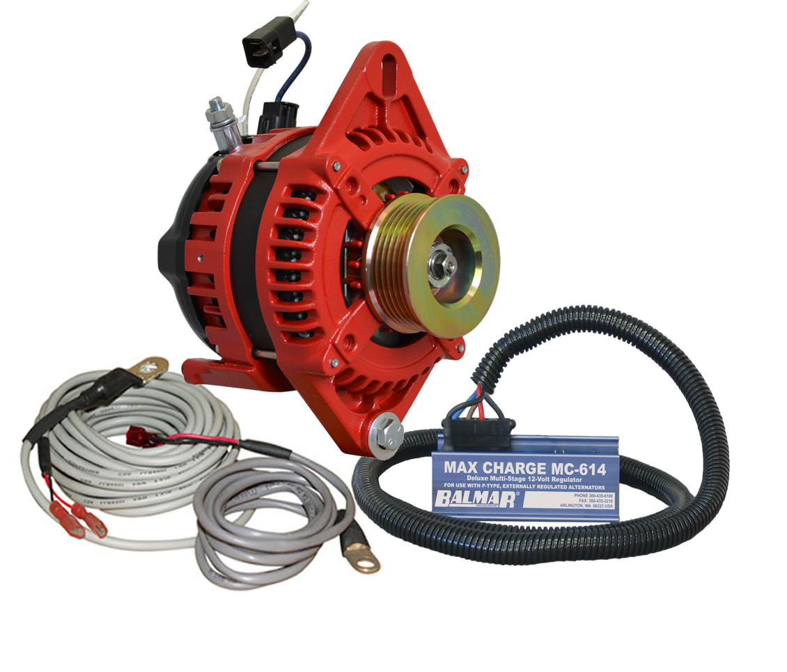 12V 165A AT Series Single Foot Spindle Mount Alternator KIT