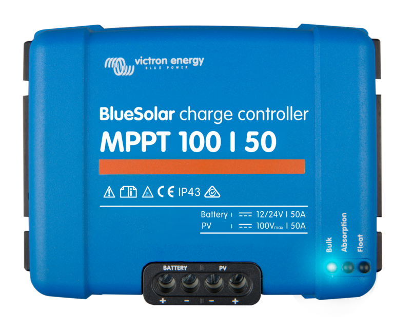 Victron BlueSolar Charge Controller - 12/24v 50A - MPPT - 100/50 (SCC010050200)