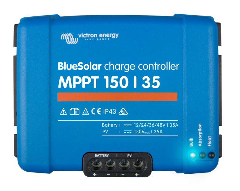 Victron Bluesolar Charge Controller - Auto Select Voltage - 12/24/36/48v 35A - MPPT - 150/35A