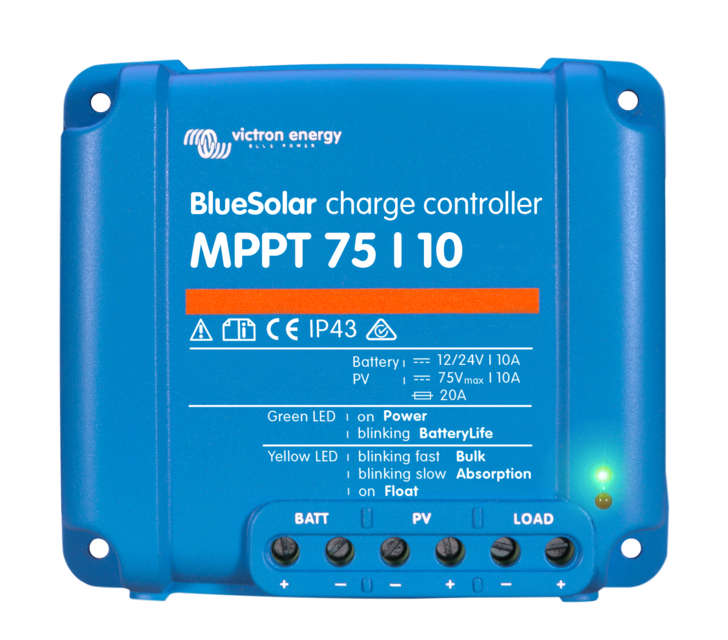 Victron BlueSolar Charge Controller - 12/24v 10A - MPPT - 75/10