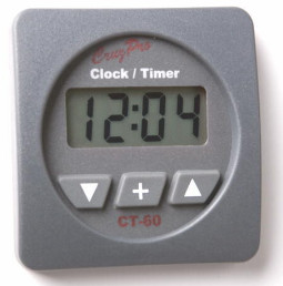 CruzPro Digital 55 mm Clock Complete with Timer Facility. SQUARE BEZEL - CT60