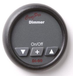 CruzPro 55 mm 16 Amp Lighting Dimmer. ROUND BEZEL - DI60/16