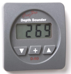 CruzPro Digital 55 mm Depth Sounder. SQUARE BEZEL - D60
