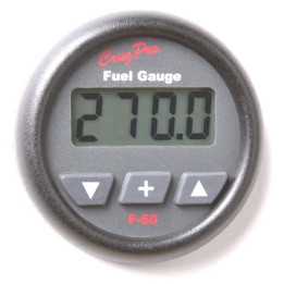 CruzPro Digital 55 mm Fuel Tank Gauge. ROUND BEZEL - F60