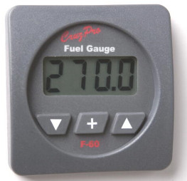 CruzPro Digital 55 mm Fuel Tank Gauge. SQUARE BEZEL - F60