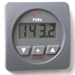 CruzPro Digital 55 mm Fuel Gauge and Consumption Calculator. SQUARE BEZEL - FU60