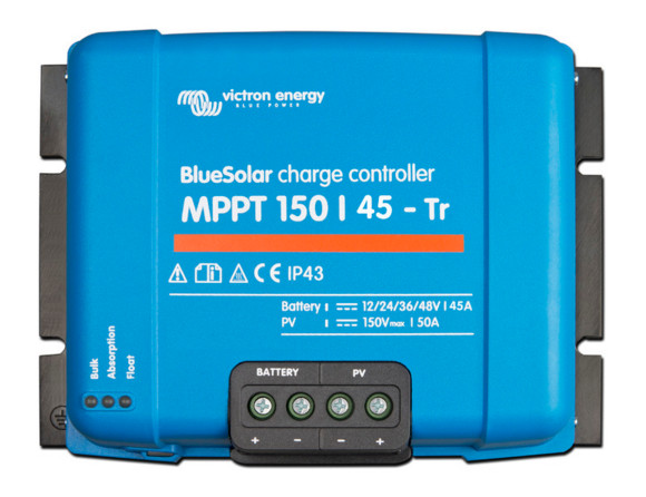 Victron BlueSolar Charge Controller 12/24/36/48v - 150/45 - Terminal Clamp Connection