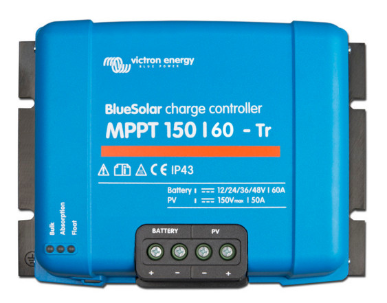 Victron BlueSolar Charge Controller 12/24/36/48v - 150/60 - Terminal clamp connection