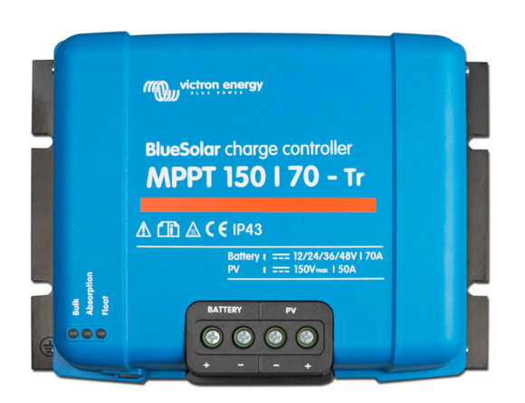 Victron BlueSolar Charger Controller 12/24/36/48v - 150/70A - Terminal clamp connection