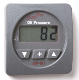 CruzPro Digital 55 mm Oil Pressure Gauge. SQUARE BEZEL - OP60