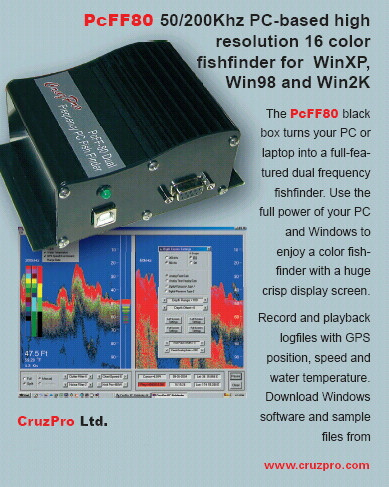 CruzPro DSP (Digital Signal Processor) Multi Function 1000ft Fishfinder / Sounder - PCFF80