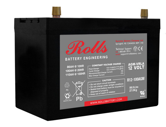 Battery - Rolls AGM - 12V 100AH (20hr)