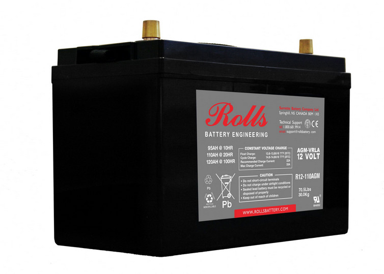 Battery - Rolls AGM - 12V 110AH (20hr)