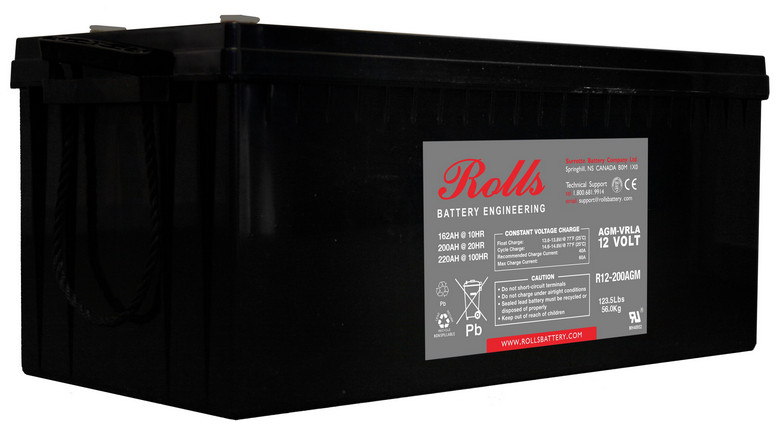 Battery - Rolls AGM - 12V 200AH (20hr)