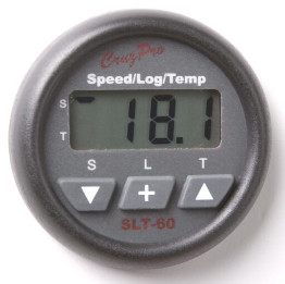 CruzPro Digital 55 mm Speed / Log / Temp Instrument. ROUND BEZEL - SLT60