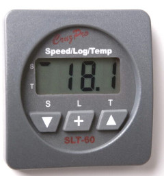 CruzPro Digital 55 mm Speed / Log / Temp Instrument. SQUARE BEZEL - SLT60