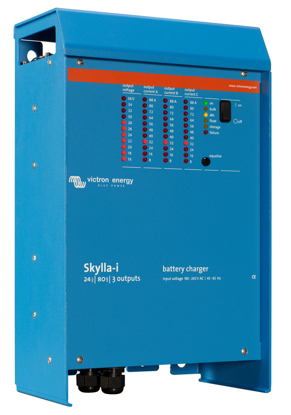 Victron Skylla - I 24 Volt 80 Amp (3) Battery Charger - 3 Outputs