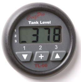 CruzPro Digital 55 mm Tank Gauge. ROUND BEZEL - TL60