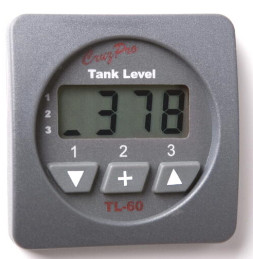 CruzPro Digital 55 mm Tank Gauge. SQUARE BEZEL - TL60