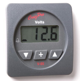 CruzPro Digital 55 mm DC Volt Meter. SQUARE BEZEL - V55