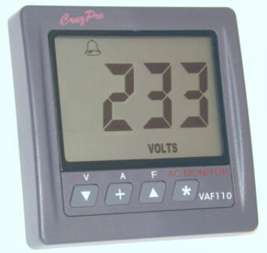 CruzPro Digital 55 mm AC System Monitor - VAF110