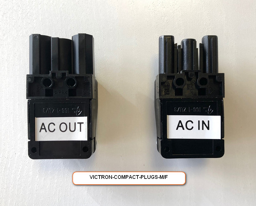 Replacement Male and Female plugs for Victron Compact Units