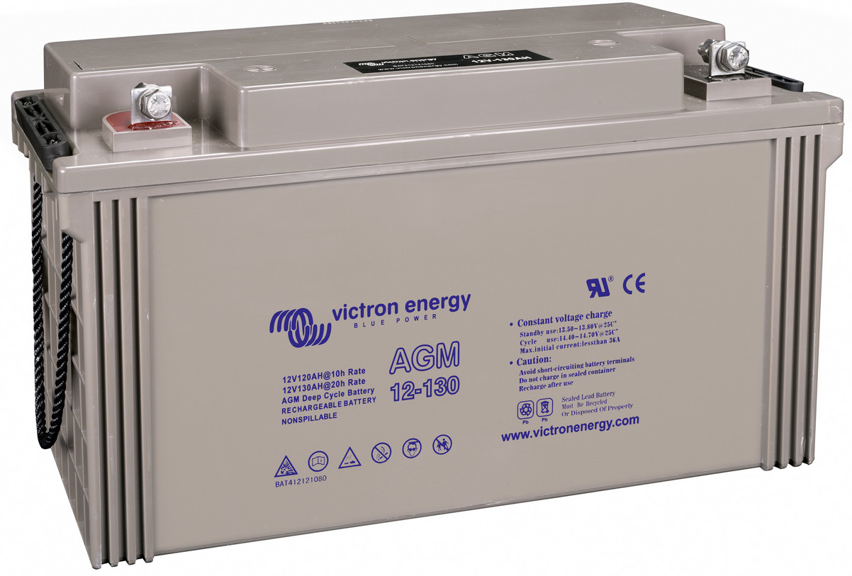 Victron 12V AGM deep cycle battery - 120 ah @ C10, 130 ah @ C20