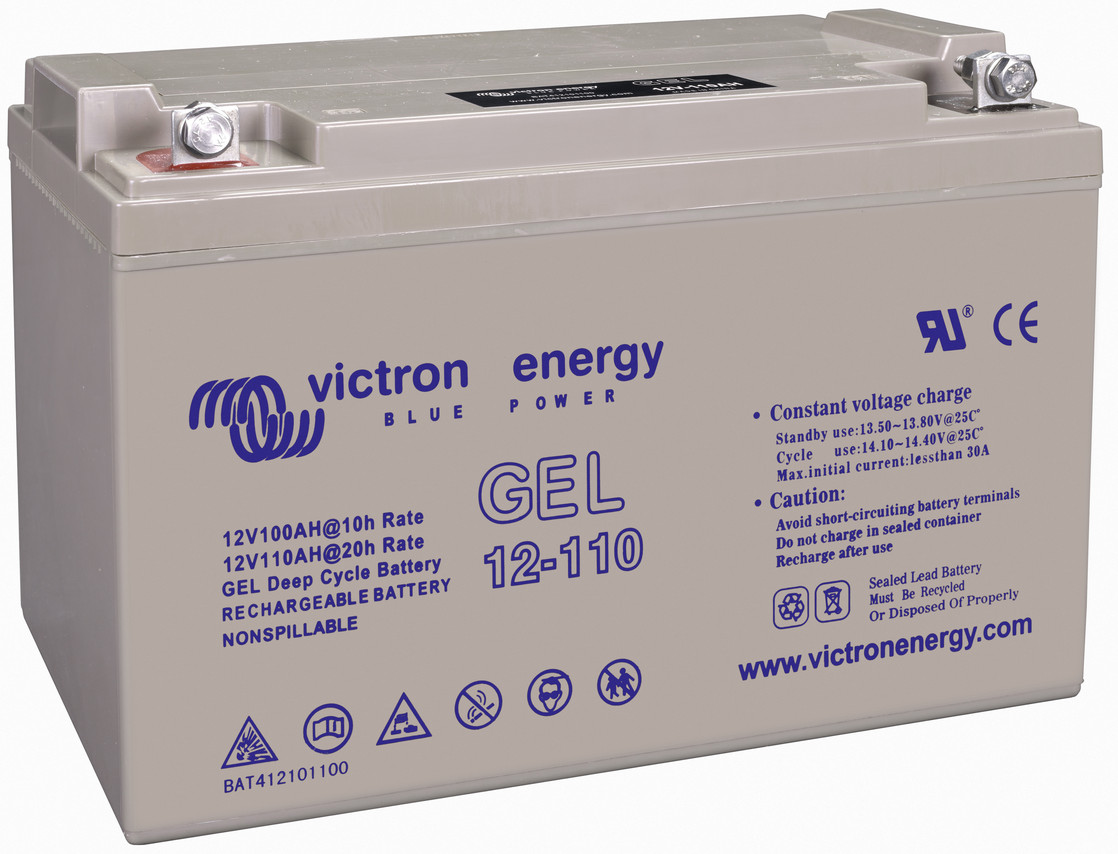 Victron 12V GEL deep cycle battery - 100 ah @ C10, 110 ah @ C20