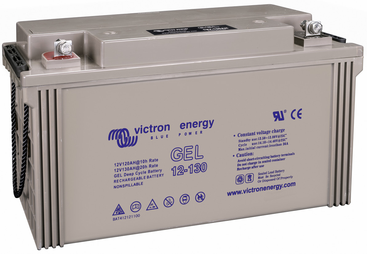 Victron 12V GEL deep cycle battery - 120 ah @ C10, 130 ah @ C20
