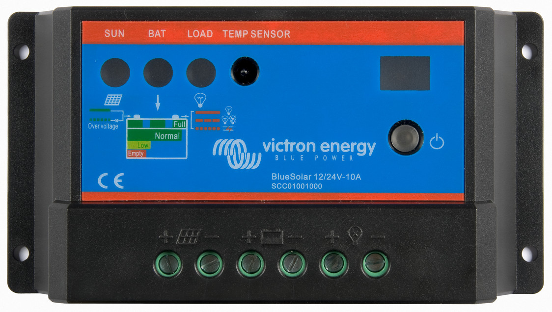 Victron BlueSolar Charge Controller 12/24V-5A. Auto Select Voltage.