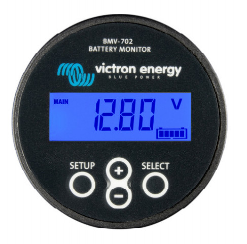 Victron BMV702 Battery Monitor Kit - Black Faced Unit