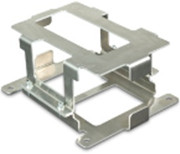 Aluminium bracket for mounting a Super B 15P starter battery.