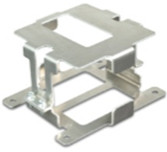 Aluminium bracket for mounting a Super B 10P starter battery.