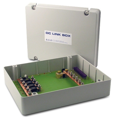 DC link box in IP55 enclosure.