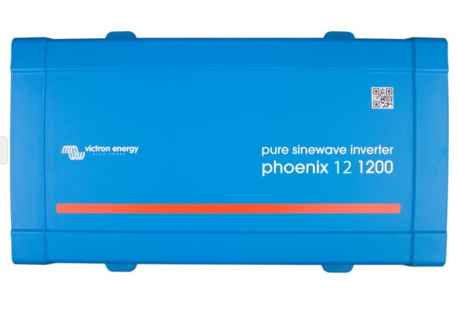 Victron Phoenix 12v, 1200va 230v Sine Wave Inverter with DEFA 1M Extension cable connected