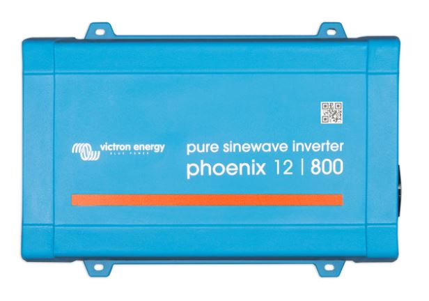 Victron Phoenix 12v, 800va 230v Sine Wave Inverter with DEFA 1M Extension cable connected
