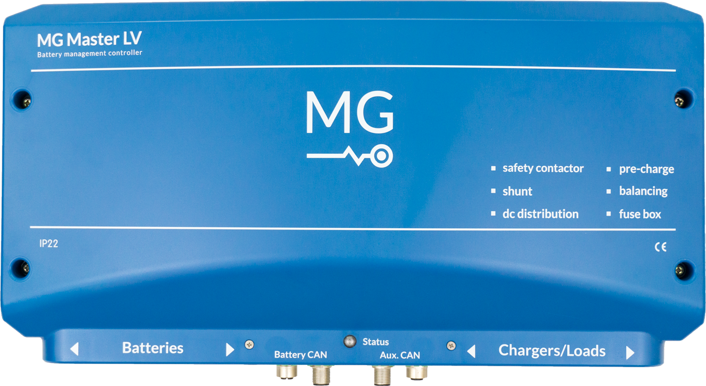 MG Energy Systems Low Voltage Master BMS. 24-48V - 600A