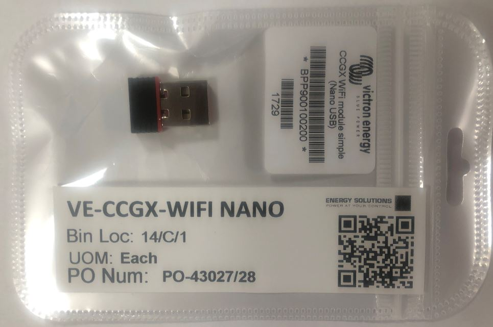 CCGX WiFi Nano USB Dongle